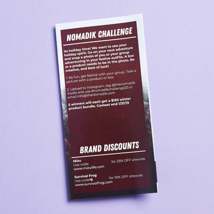 Nomadik January 2019 booklet challenge and discounts