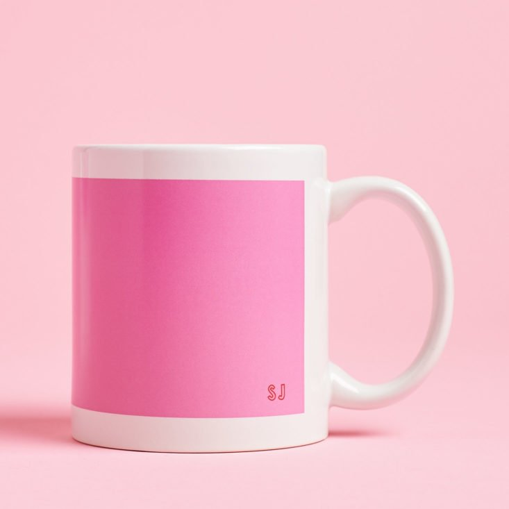 Quirky Crate pink tea mug