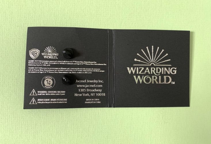 Wizarding World Crate January 2019 - Thestral Pin Open Front