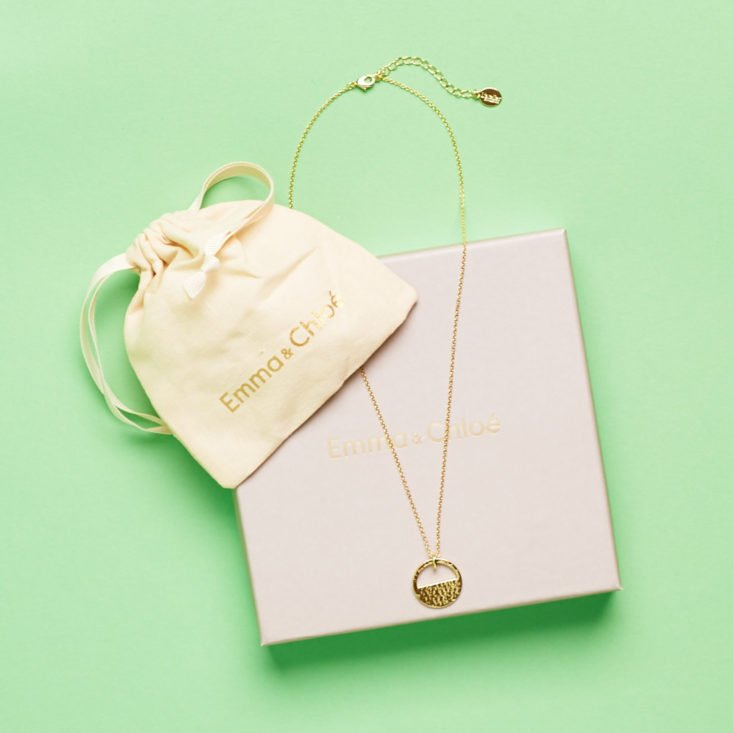 Emma and Chloe February 2019 necklace with box