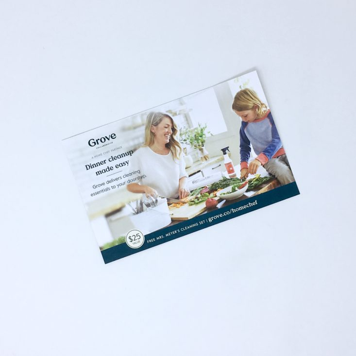 Home Chef Subscription Box Review March 2019 - Grove Ad Card Front Top