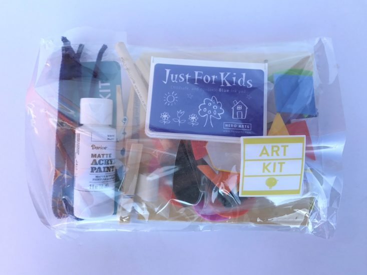 KidArtLit Deluxe Subscription Box Review March 2019 - Deluxe process art kit Packaged Top