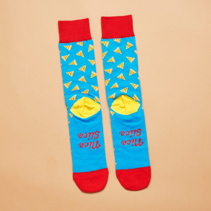 Say It With A Sock Mens pizza patterned socks march 2019