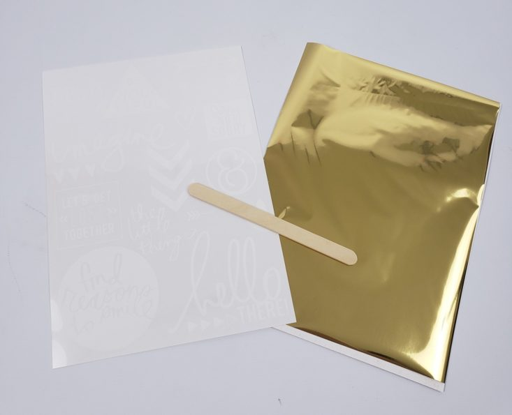 BUSY BEE REVIEW APRIL 2019 - Heidi Swapp Rub-On Foil Set Open Top