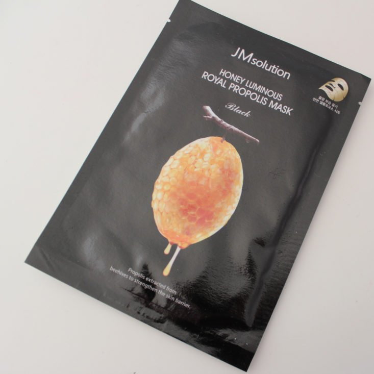 Beauteque Mask Maven Review March 2019 - JMSolution Honey Luminous Royal Propolis Mask Top