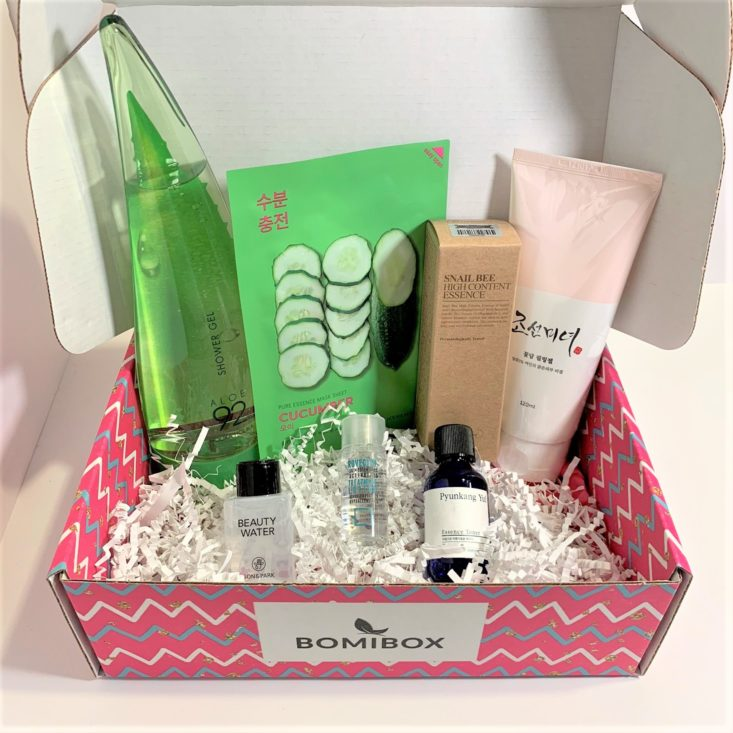 BomiBox Review March 2019 - All Items Unboxed Top