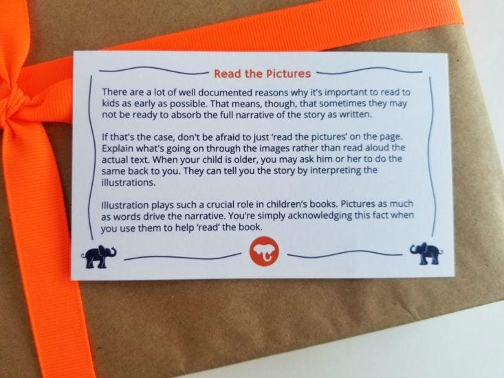 Elephant Books April 2019 tip card