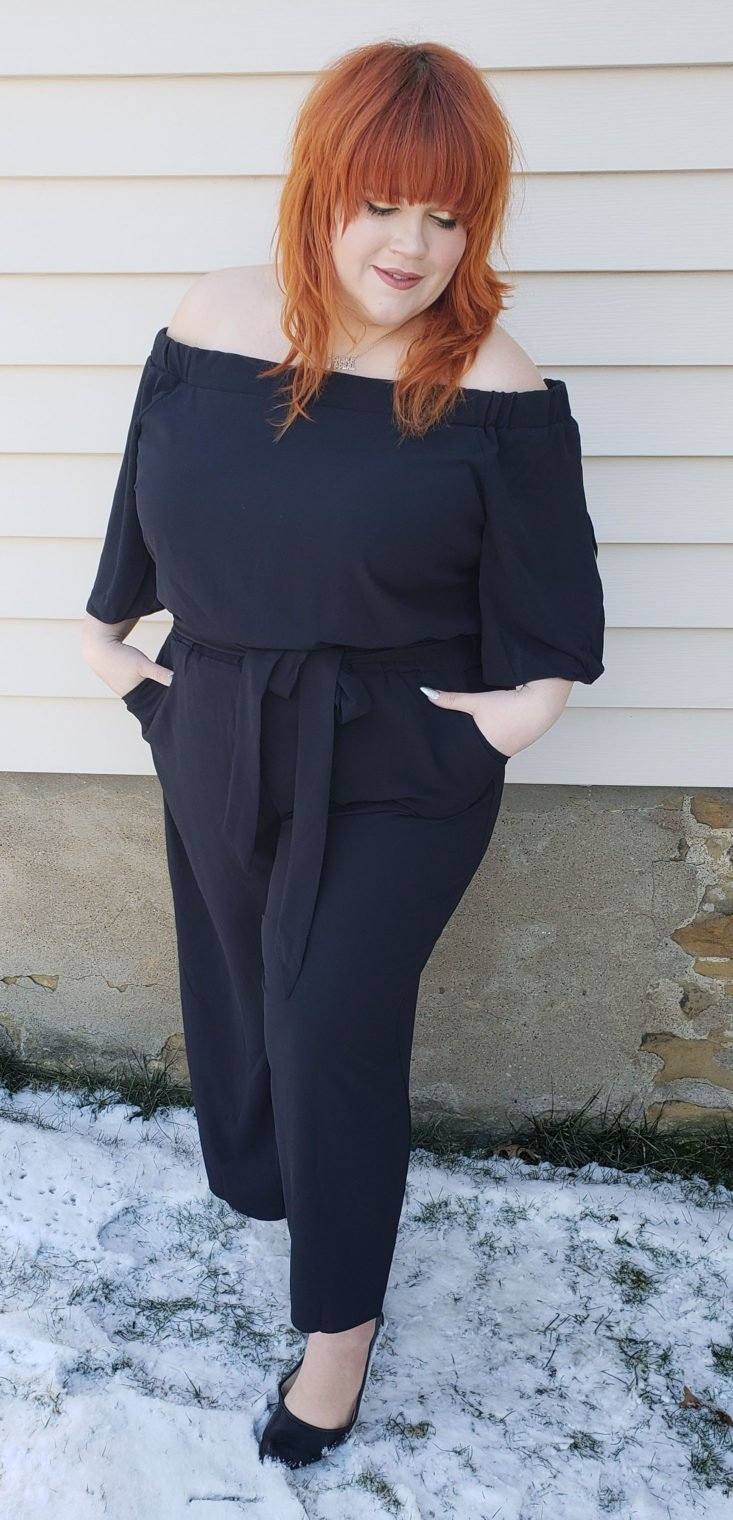 Nordstrom Trunk Box February 2019 - Off the Shoulder Jumpsuit by City Chic 2