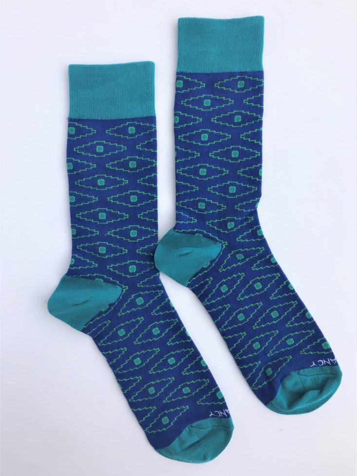Sock Fancy Men April 2019 - Blue Aztec Print Men's Socks Top 1