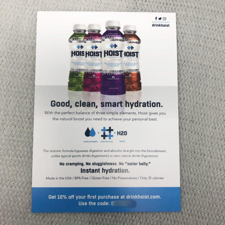 BuffBoxx Fitness Subscription Review April 2019 - Hoist Hydration Beverag (Orange) 1