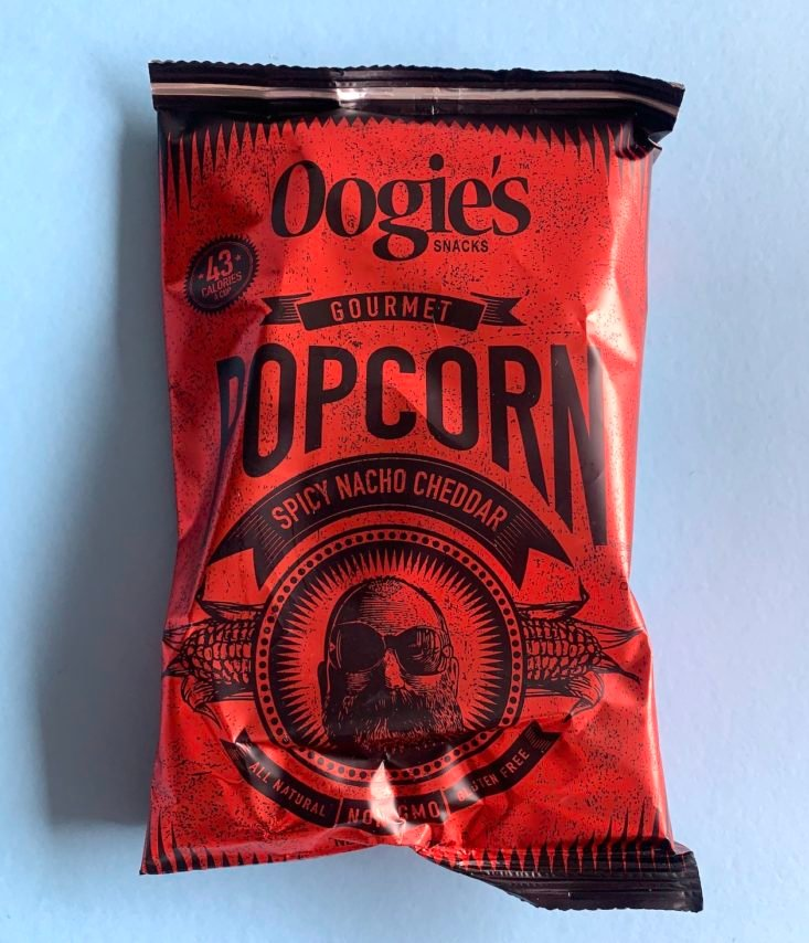 SnackSack Classic May 2019 - Oogie's Spicy Nacho Cheddar Popcorn 1