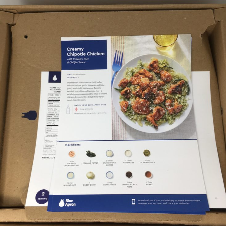 opened box w_ recipes on top