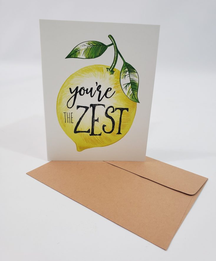 Flair & Paper July 2019 - You're The Zest Greeting Card