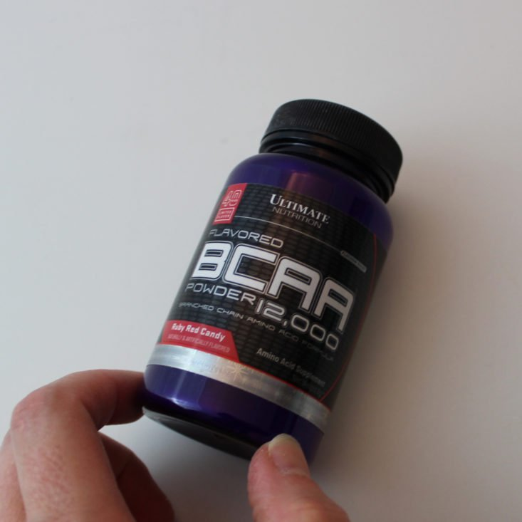Bulu Box Weight Loss Subscription Box August 2019 - Ultimate Nutrition Flavored BCAA Top