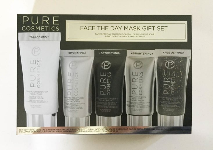 My Fashion Crate Subscription Review July 2019 - Pure Cosmetics Face the Day Travel Mask Set 1 Front