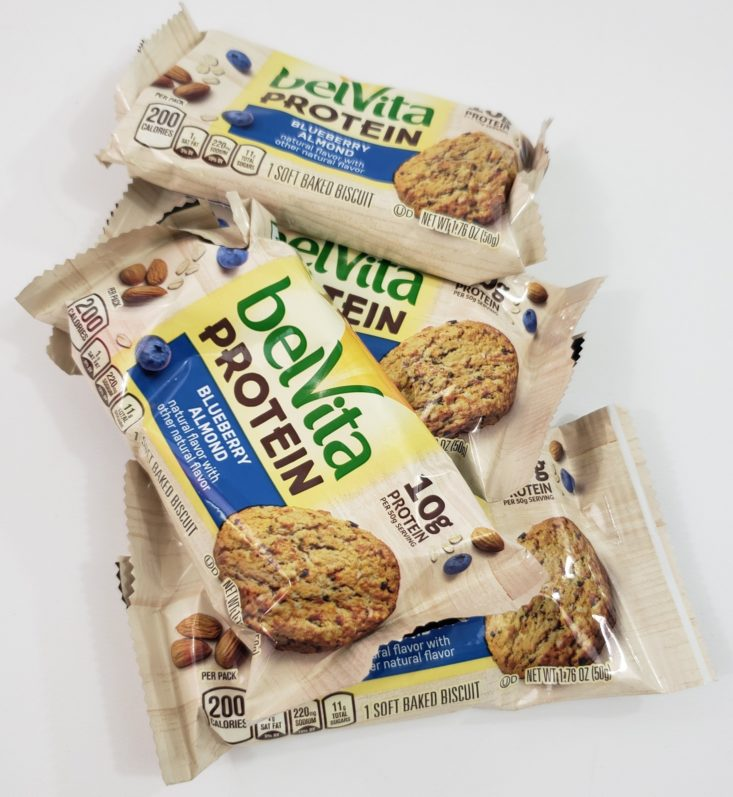 Snack With Me August 2019 - Belvita Protein Biscuits Packed Top