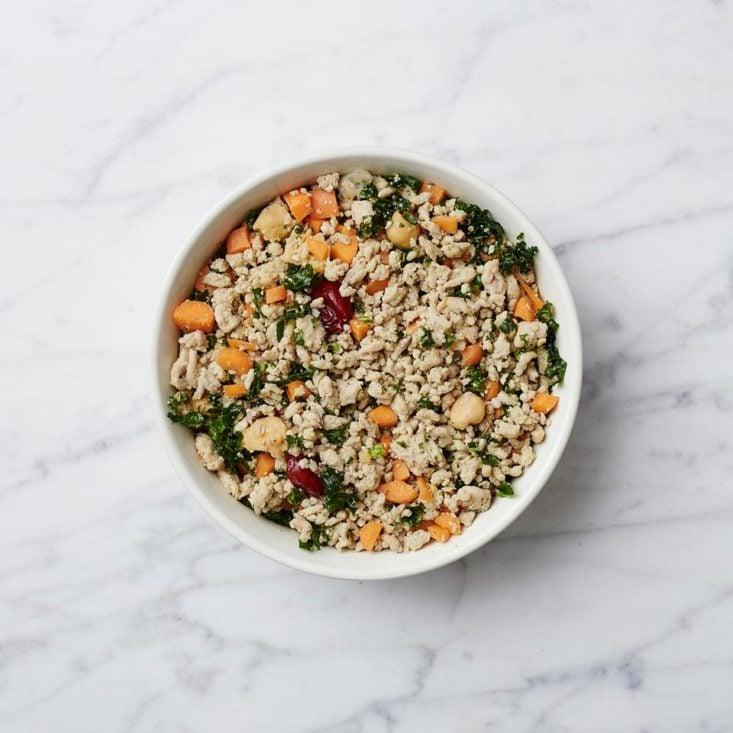 farmer's dog food in a bowl