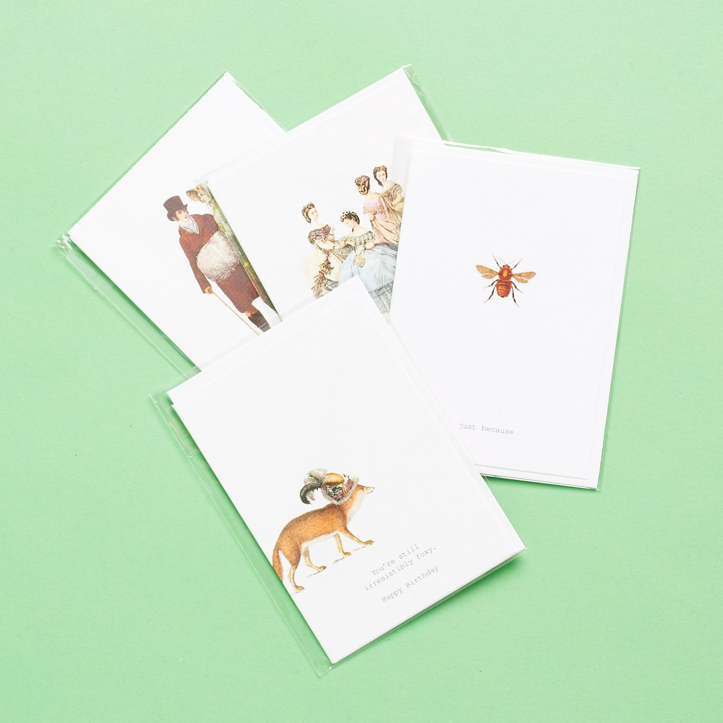 set of adorable stationary cards